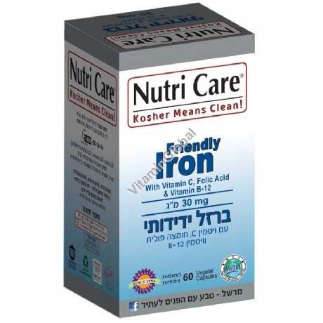 Kosher Badatz Friendly Iron 60 capsules - Nutri Care