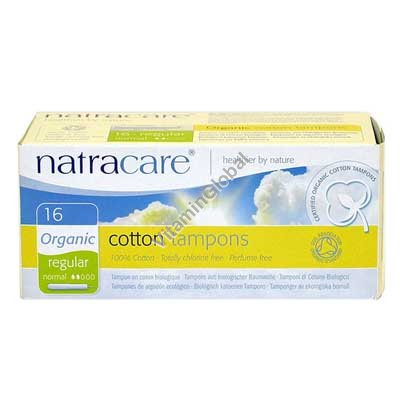 Organic Cotton Tampons With Applicator Regular 16 pcs - Natracare