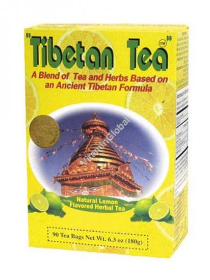 Tibetan Tea Lemon Flavour 90 tea bags - Oriental Secrets