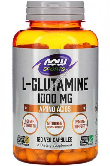 L-Glutamine 1000 mg 120 capsules - Now Foods