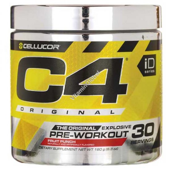 Pre-Workout C4, Fruit Punch 9.5 oz (180g) - Cellucor