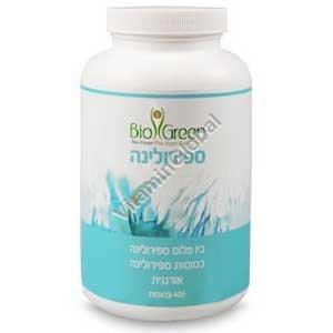 Kosher Badatz Organic Spirulina 400mg 400 tablets - Bio Green