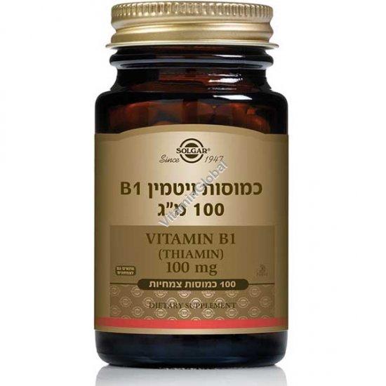 Vitamin B1 100 mg 100 capsules - Solgar
