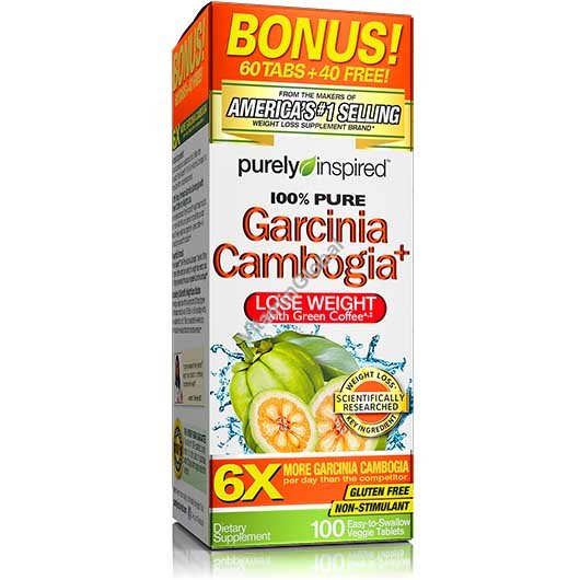 Garcinia Cambogia with Green Coffee for Weight Loss 100 tablets - Purely Inspired