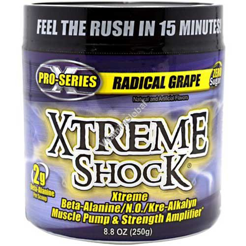 Xtreme Shock Pre-Workout Formula, Radical Grape 250g - Ansi