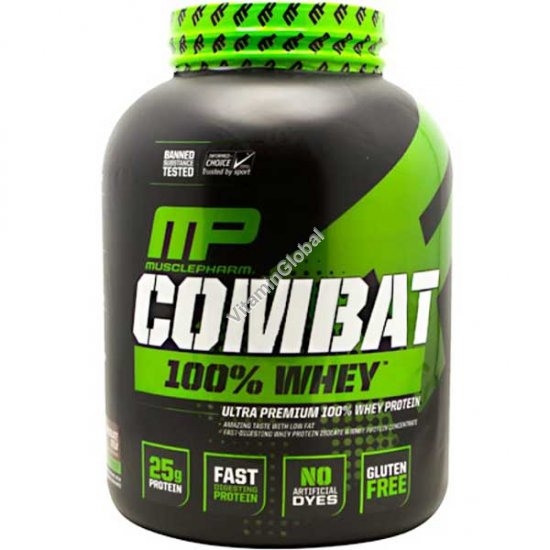 Combat Ultra Premium 100% Whey Protein Vanilla 2269g (5 LBS) - Muscle Pharm