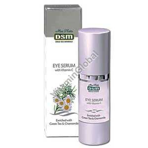 Eye Serum with Vitamin C, enriched with green tea and chamomile 30 ml - Mon Platin
