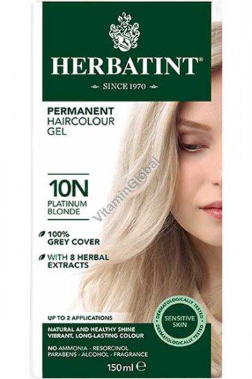 Permanent Herbal Haircolor Gel Platinum Blonde 10N - Herbatint