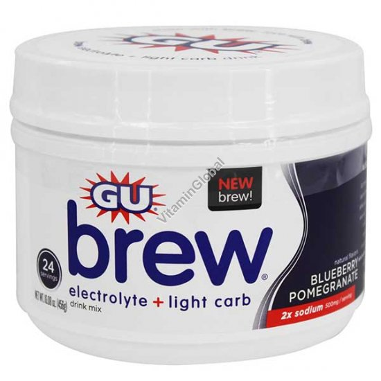 Premium Electrolyte Brew Blueberry Pomegranate 456g - GU