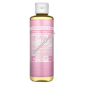 Hemp Cherry Blossom Pure Castile Liquid Soap 472ml (16 fl oz) - Dr. Bronner