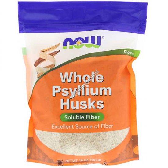 Whole Psyllium Husks, 454g (16 oz) - Now Foods