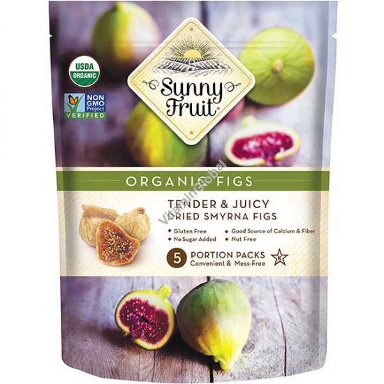 Sun-Dried Organic Figs 8.8 oz (250g) (5 portion packs inside) - Sunny Fruit