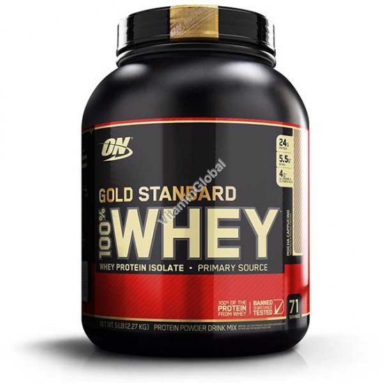 Gold Standard - 100% Whey Protein Mocha Cappuccino 2.270g - Optimum Nutrition