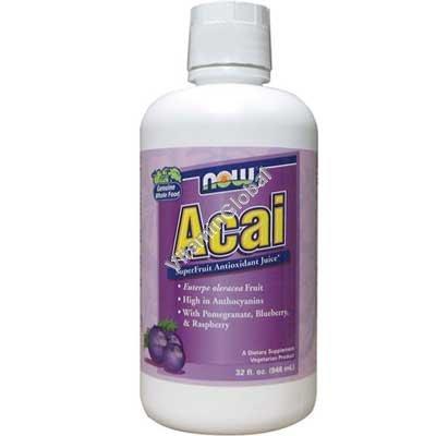 Acai SuperFruit Antioxidant Juice 946 ml - Now Foods