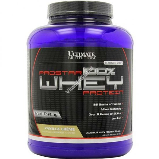 ProStar Whey Protein Vanilla Flavor 2.39 kg - Ultimate Nutrition