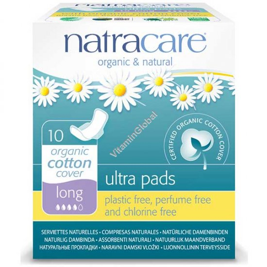 Organic & Natural Ultra Pads, Long 10 Count - Natracare
