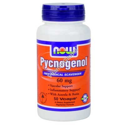 Pycnogenol 60 mg 50 Vcaps - NOW Foods