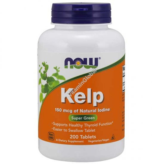 Kelp 150 mcg 200 tablets - NOW Foods
