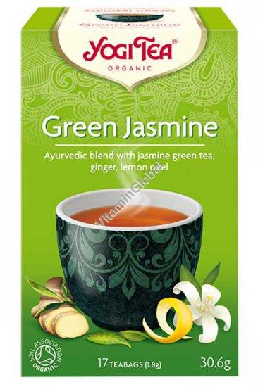Organic Blend with Jasmine Green Tea, Ginger, Lemon Peel 17 teabags - Yogi Tea