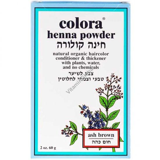 Henna Powder Ash Brown 60g (2 oz.) - Colora