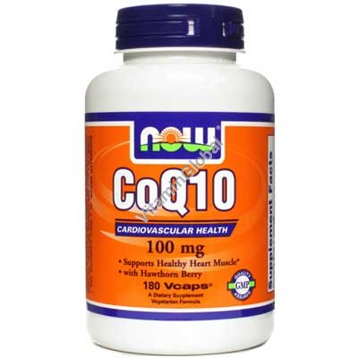 CoQ10 100 mg with Hawthorn Berry 180 Vcaps - Now Foods