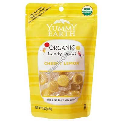 Organic Lemon Candy Drops 93.5g - Yummy Earth