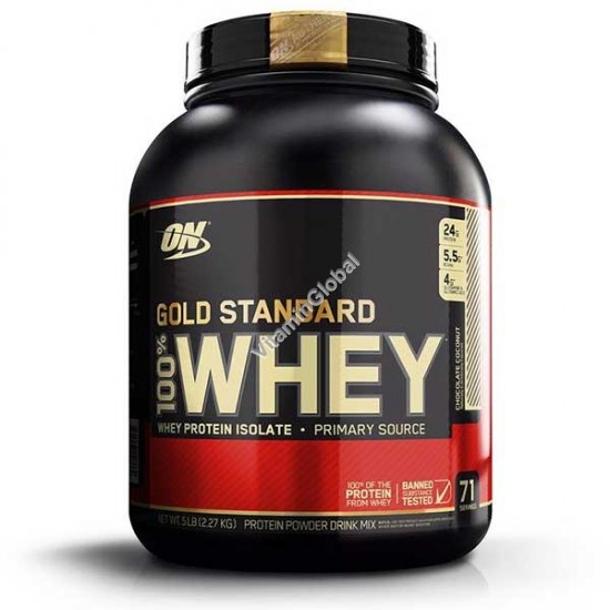 Gold Standard - 100% Whey Protein Chocolate Coconut 2.270g - Optimum Nutrition