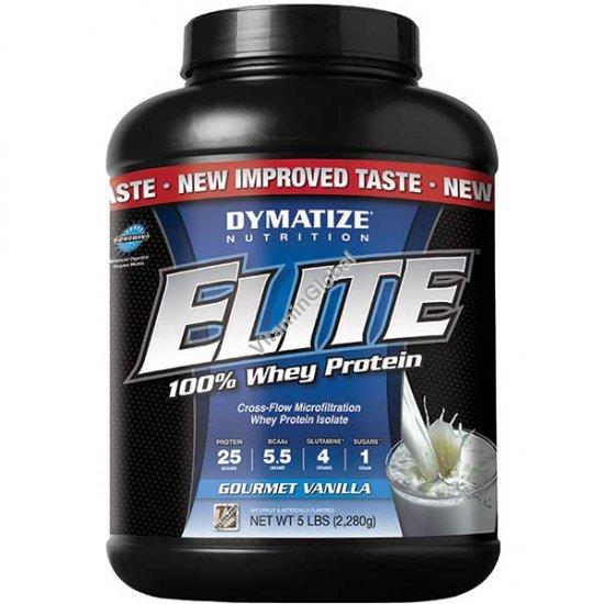 Elite Whey Protein Gourmet Vanilla 5 LBS (2270g) - Dymatize Nutrition