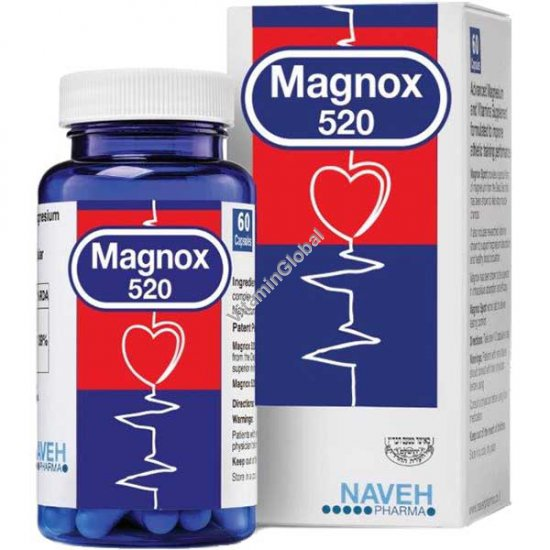 Magnox 520 - Kosher Badatz Magnesium Complex 520mg 60 tablets - Naveh