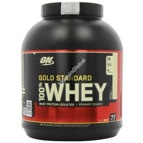 Gold Standard - 100% Whey Protein Vanilla Ice Cream 2.270g - Optimum Nutrition