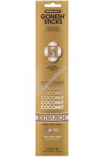 Coconut Incense Sticks 20 count - Gonesh Sticks