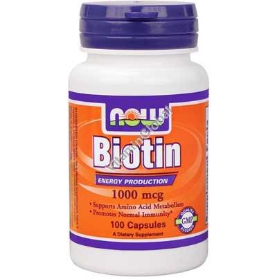 Biotin 1000 mcg 100 capsules - Now Foods