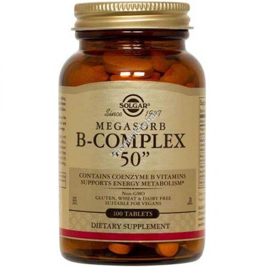 Megasorb B-Complex 50 mg 100 tablets - Solgar