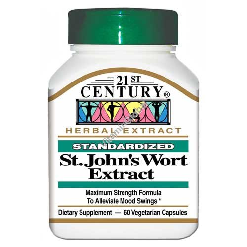 Standardized St. John\'s Wort Extract 300mg 60 Vcaps - 21st. Century