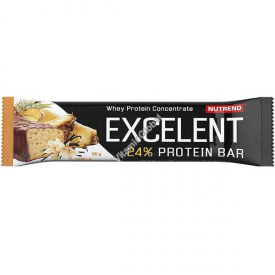 Excelent Protein Bar Vanilla Flavour with Pineapple, Covered with a Real Milk Chocolate 85g - Nutrend