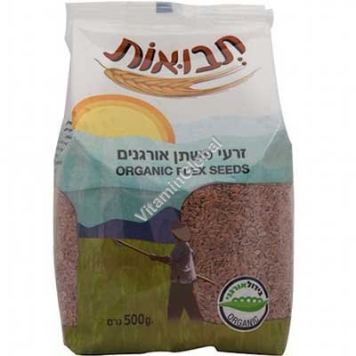 Organic Flax Seeds 500g - Tvuot