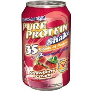 Pure Protein Shake Strawberry Cream 325 ml (11 FL. OZ.) - Worldwide