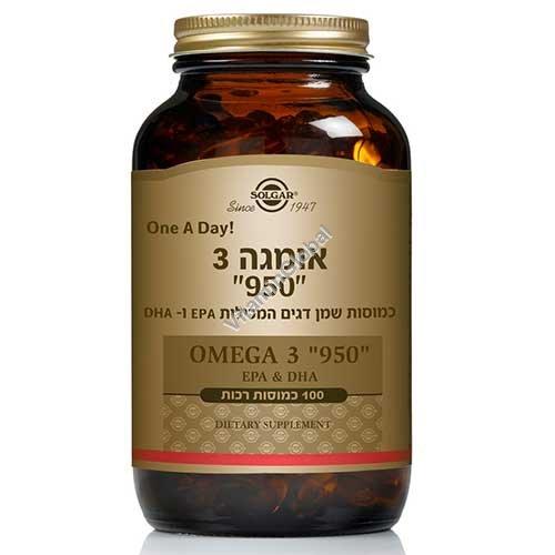"Omega-3 ""950"" EPA & DHA 100 capsules - Solgar"
