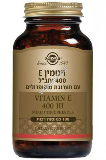 Vitamin E 400 IU Mixed Tocopherols 50 softgels - Solgar