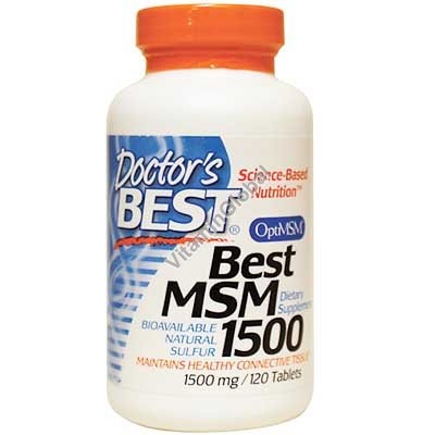 Best MSM 1500 mg 120 tablets - Doctor\'s Best