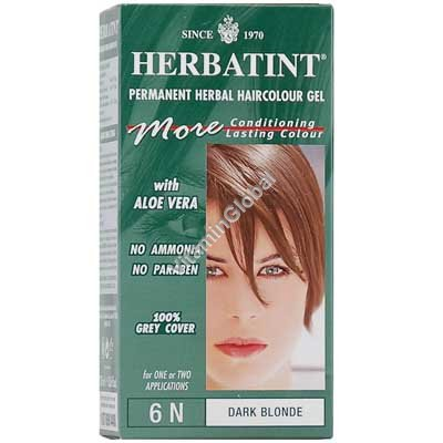 Permanent Herbal Haircolour Gel Dark Blonde 6N - Herbatint