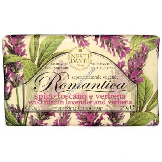 Romantica Wild Tuscan Lavender and Verbena Natural Soap Bar 250g - Nesti Dante