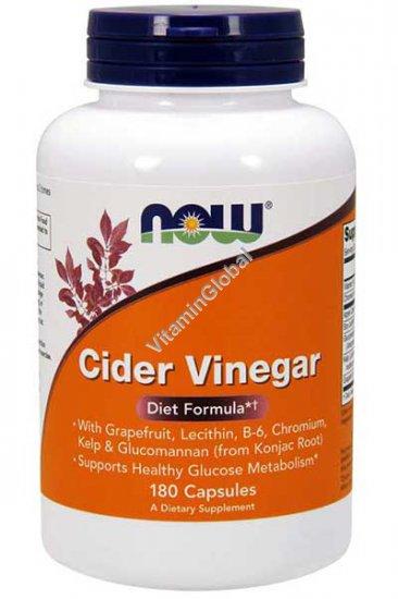 Cider Vinegar (Diet Formula) 180 capsules - NOW Foods