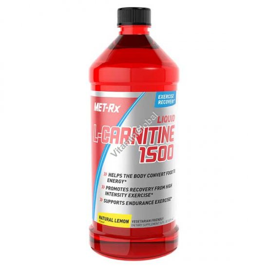 Liquid L-Carnitine 1500 Lemon Flavor 473ml - Met-Rx