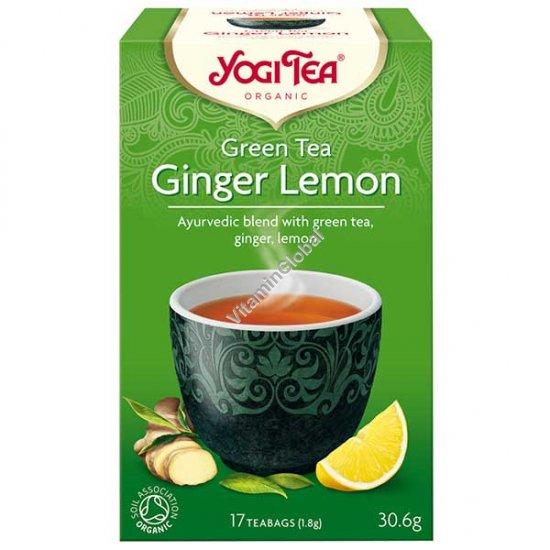 Organic Green Tea Ginger Lemon 17 teabags - Yogi Tea