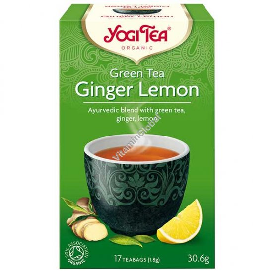 Organic Green Tea Ginger Lemon 17 teabags - Yogi Tea