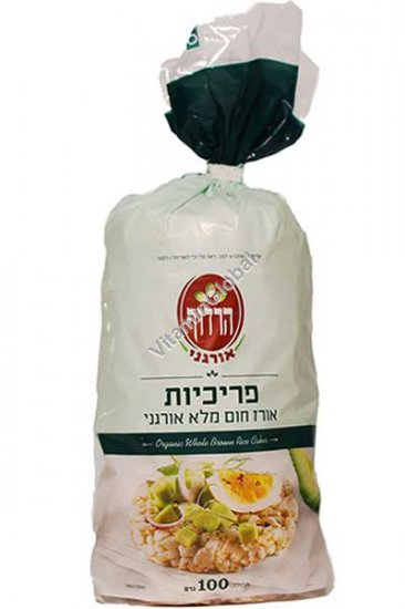 Organic Whole Brown Rice Cakes 100g - Harduf