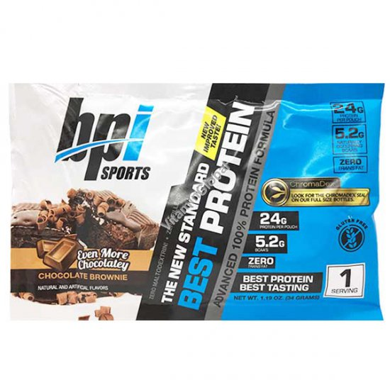 Best Protein Chocolate Brownie 1 serving (34 grams) - BPI Sports