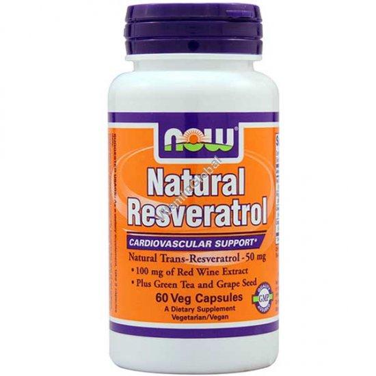 Natural Resveratrol 60 Veg Capsules - Now Foods