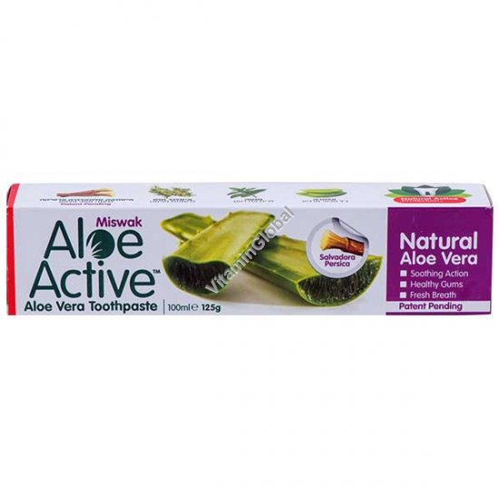 Aloe Vera Miswak Toothpaste 100 ml - Aloe Active